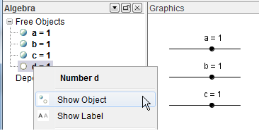 GeoGebra Sliders