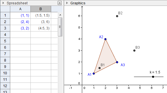 geogebra-spreadsheet-similarity