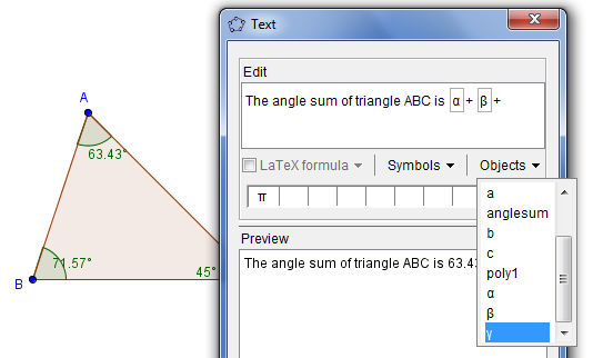 GeoGebra Sneak Peek 3: The New Text Tool
