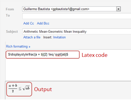 latex in gmail