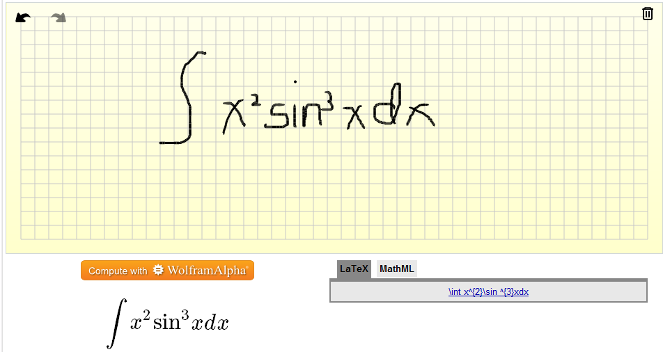 Write a mathematical expression in latex