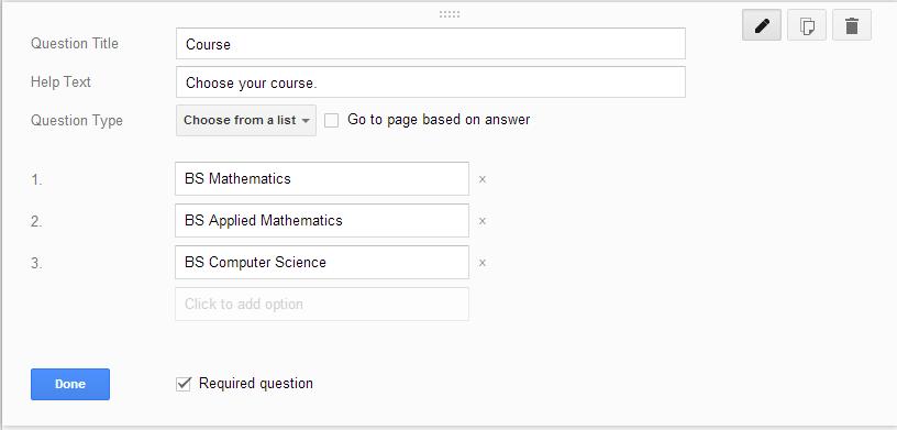 Google Form Course