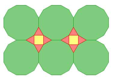 Dodecagon Square Triangle Tessellations