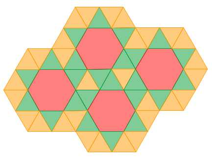 Hexagon Triangle Tessellations