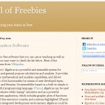 My new blog: School of Freebies