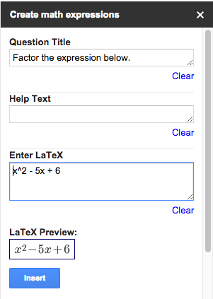 How to Create Math Expressions in Google Forms