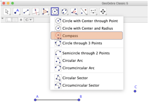 GeoGebra Compass tool